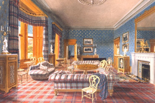 Plethora Of Plaid Carpet At Balmoral Castle In Honor Of