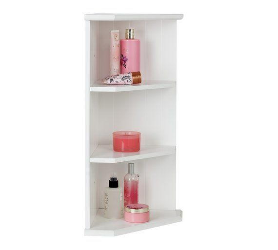 Collection Tongue And Groove Bathroom Corner Shelf White At Argos Co Uk