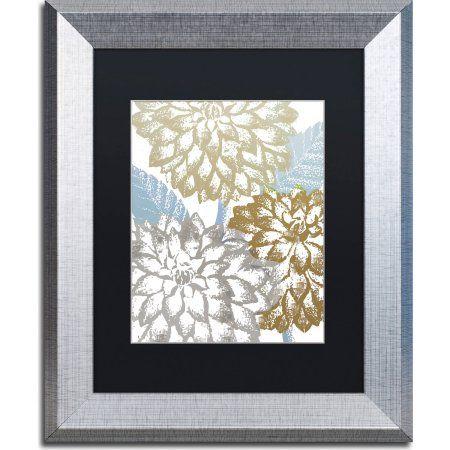 Trademark Fine Art Sea Dahlias II Canvas Art by Color Bakery, Black Matte, Silver Frame, Size: 11 x 14, Assorted