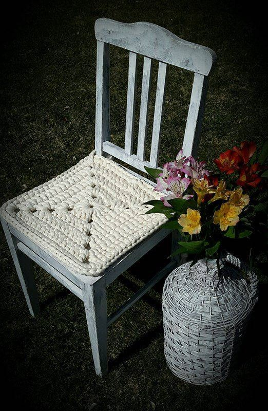 Chair Pads Crochet Cotton Kitchen Pad Dining