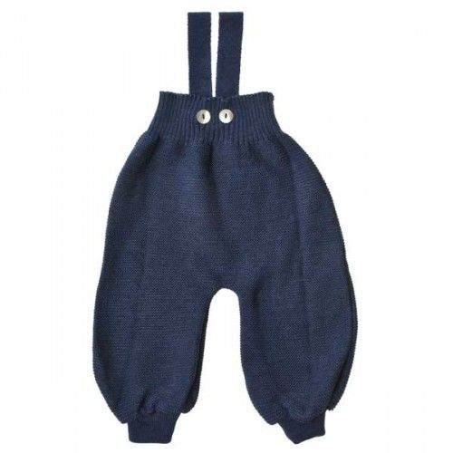 Wool pants with removable braces for babies from Selana