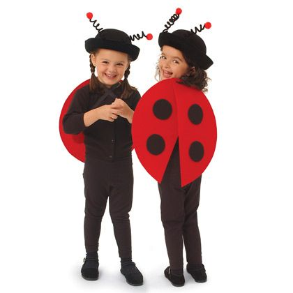 Halloween Costumes: Lovely Ladybug Costume.  Completely adorable.  Instructions included.