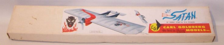 "Vintage Goldberg ""Jr Satan"" Control Line Combat Stunt Model Airplane Kit | eBay"