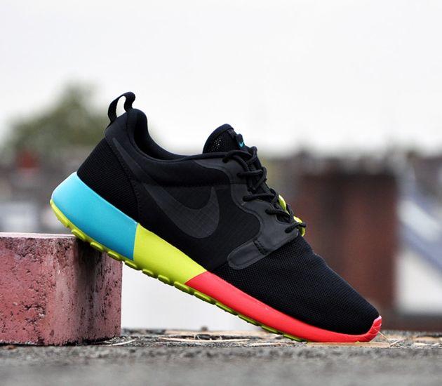 Nike Roshe Run WMNS Hyperfuse-Black-Turbo Green-Venom Green