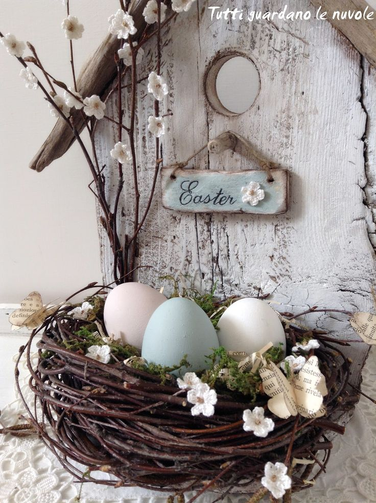 Diy easter decor tutti guardano le nuvole spring for Easter decorations for the home pinterest