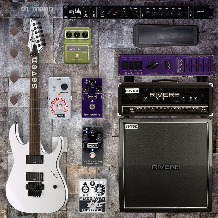 The rig of Slipknot guitarist Mick Thomson  What do you think?   In our shop → tho.mn/23cds #slipknot #guitar #rig #set #metal #gear