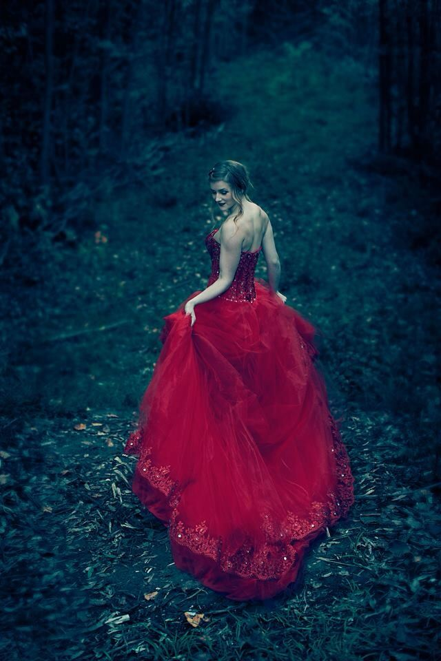 """Finding Beauty in the Darkness  A fashion photoshoot for """"The Red Dress """" collection   By Heidi Johns of a Yak Pics Photography"""