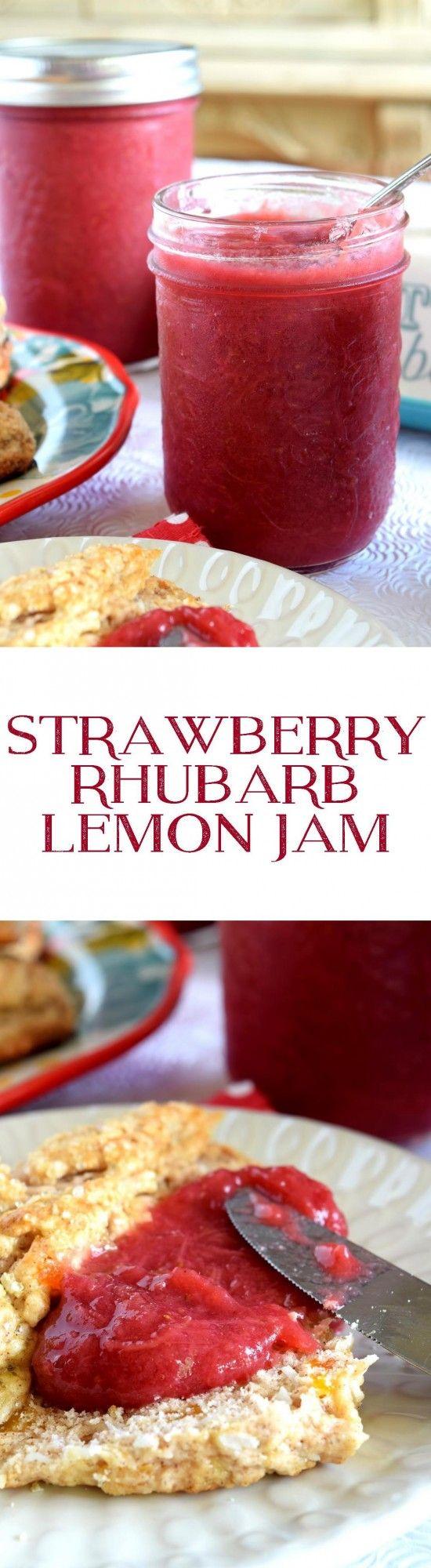 Strawberry Rhubarb Lemon Jam - Lord Byron's Kitchen