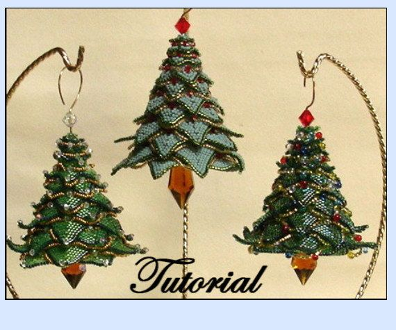 276 best images about 3 d bead patterns on pinterest for Number of ornaments for christmas tree