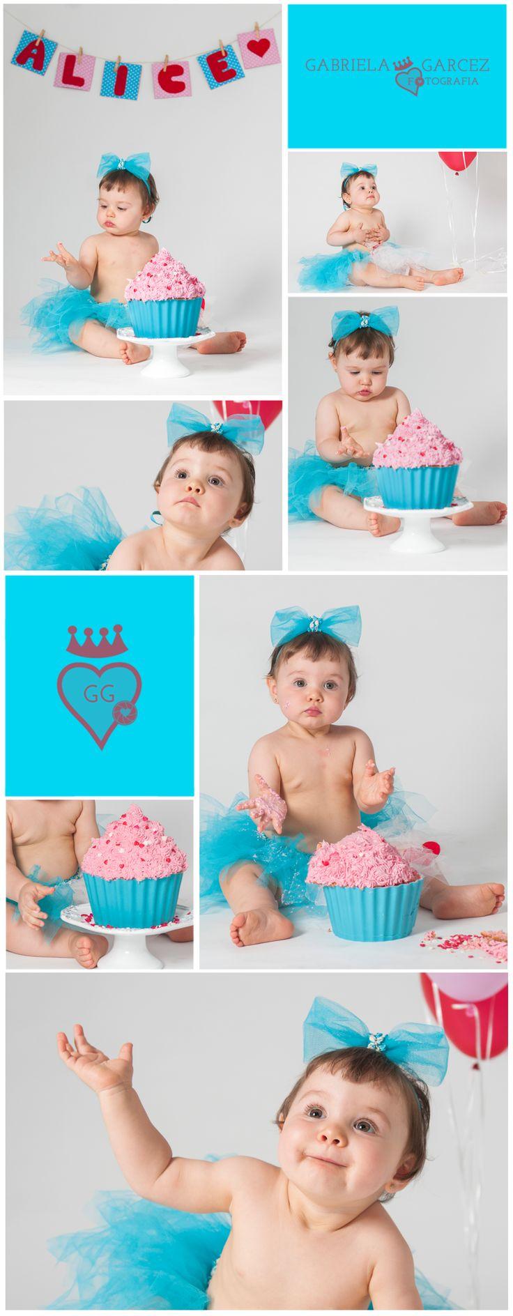 Ensaio Cake Smash - Fotografia bebê rj - Alice 1 ano