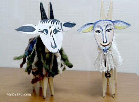 поделка коза своими руками. фото 17