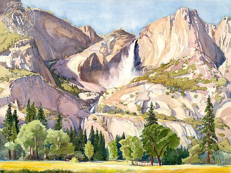 This California watercolor painting is available as a high-definition giclee art print on Arches watercolor paper.
