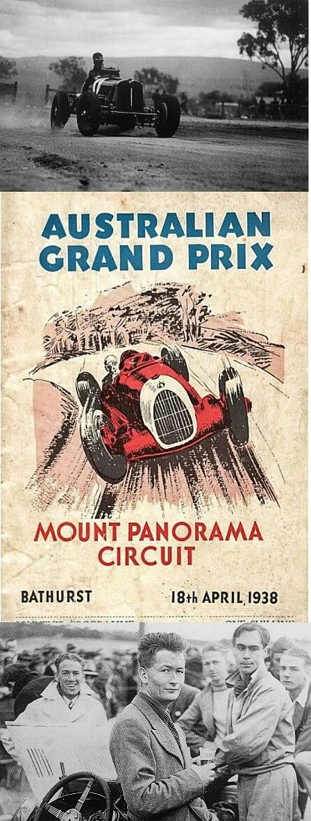 The 18 April 1938 Australian Grand Prix  was the tenth Australian Grand Prix, and the first at the newly completed Mount Panorama Circuit. Two visiting British drivers, Peter Whitehead  in his ERA (pictured), and Alan Sinclair in his Alta, took 1st and 2nd in the race. #Bathurst #MountPanorama #NSW
