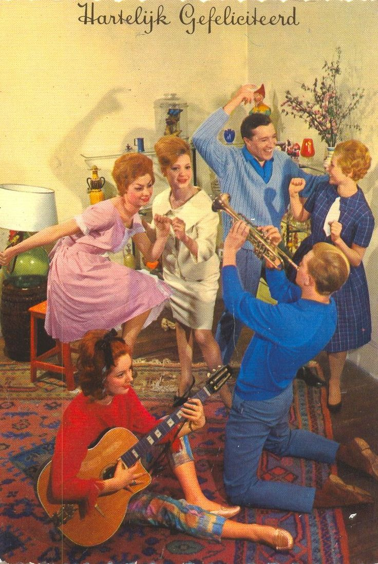 #kaart #verjaardag #vintage #verjaardagskaart #trompet #birthday #card