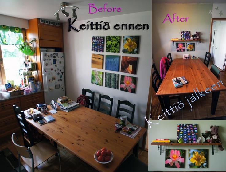 My kitchen project Pientä keittiön tuunausta Seinän