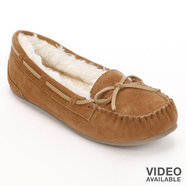 Dearfoams Moccasin Slippers - Women