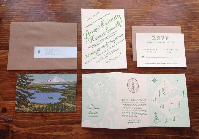 wedding invitation suite - anne kenady design