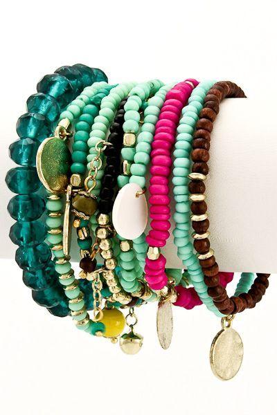 Boho Bracelets Set (10 pieces)