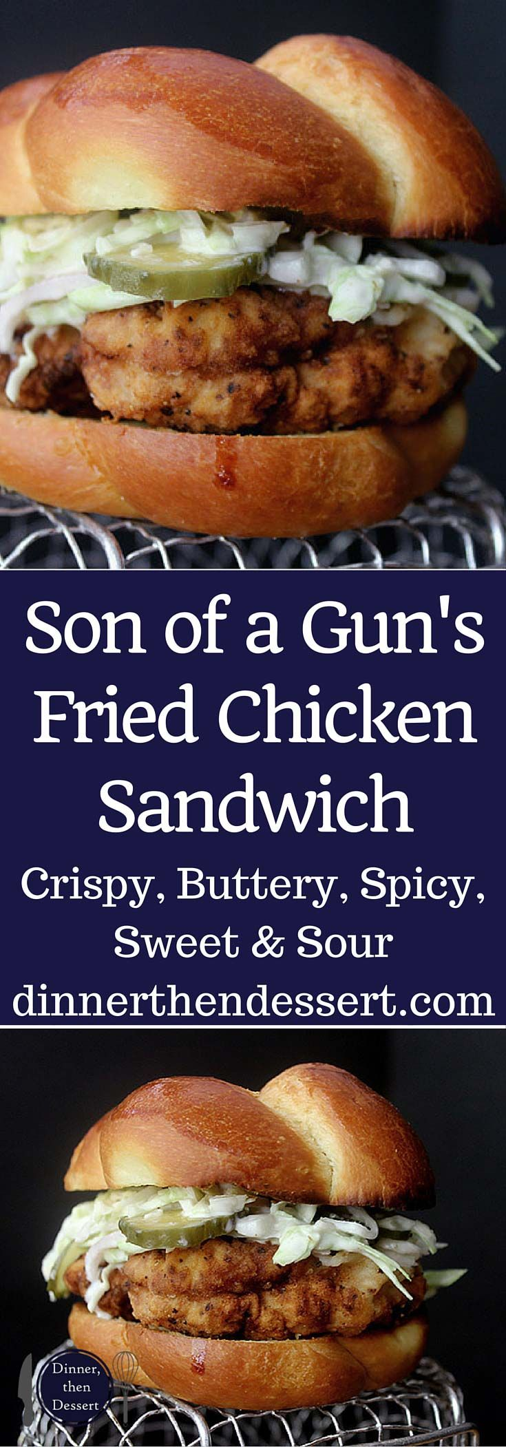 The Son of A Gun Fried Chicken Sandwich is crispy, juicy, spicy, sweet and sour in a buttery toasted bun without an impossible to get reservation.