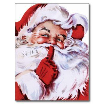 Vintage Christmas Santa Postcard #vintage-christmas-santa-postcards #santa #festive #holidays #postage-card #merry-christmas vintage-postcard
