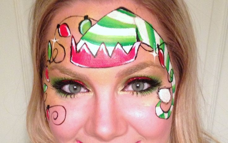 Christmas Elf Face Painting