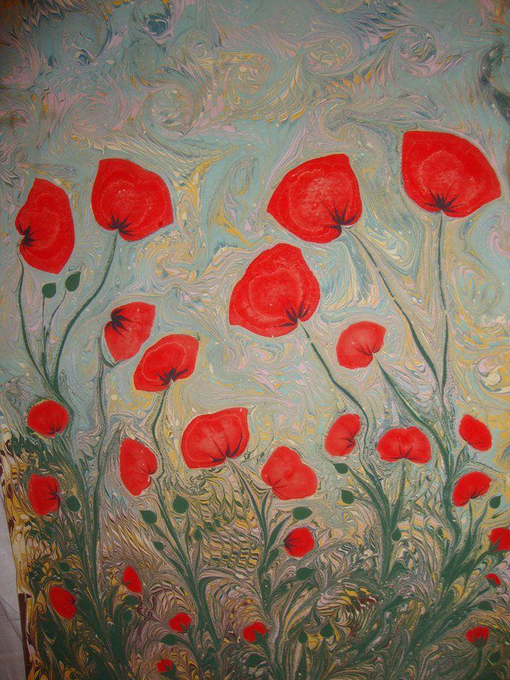 Dilek Uludağ's ebru art.