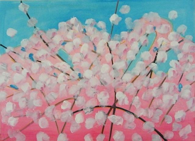 Alex Katz, Cherry Blossoms