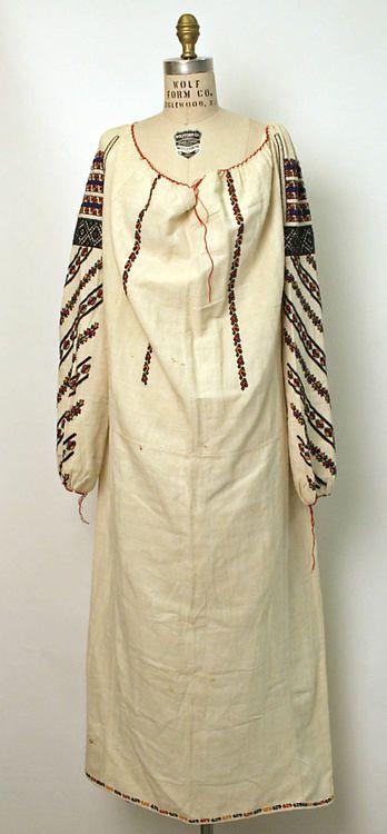 Dress  Late 19th Century-Early 20th Century   Romania  MET