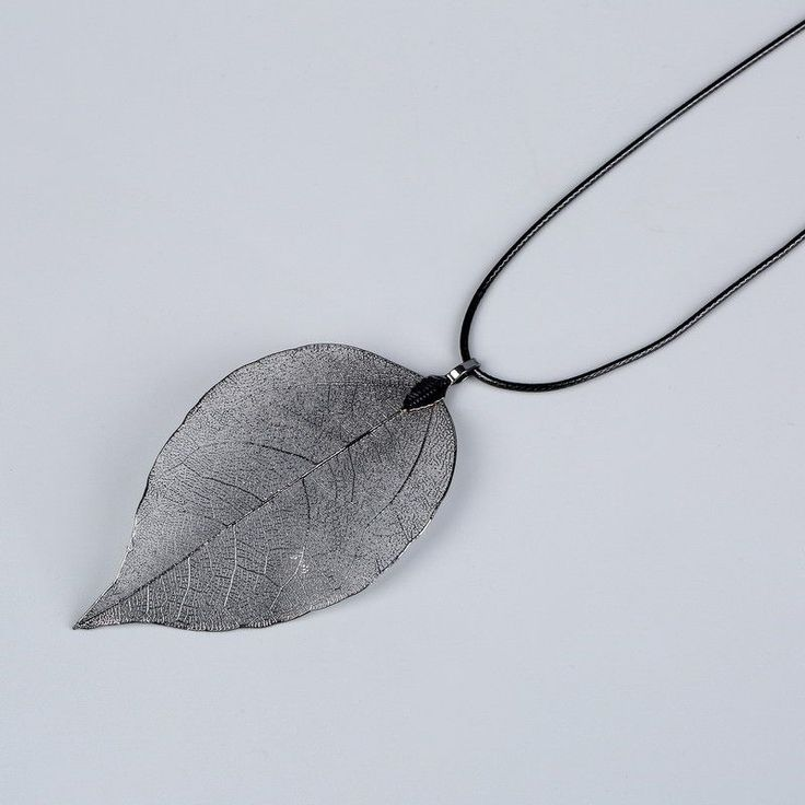 Fashion Women Necklaces & Pendants Statement Maxi Collar Long Chain Necklace Unique Natural Real Leaf Necklace Fine Jewelry Gift