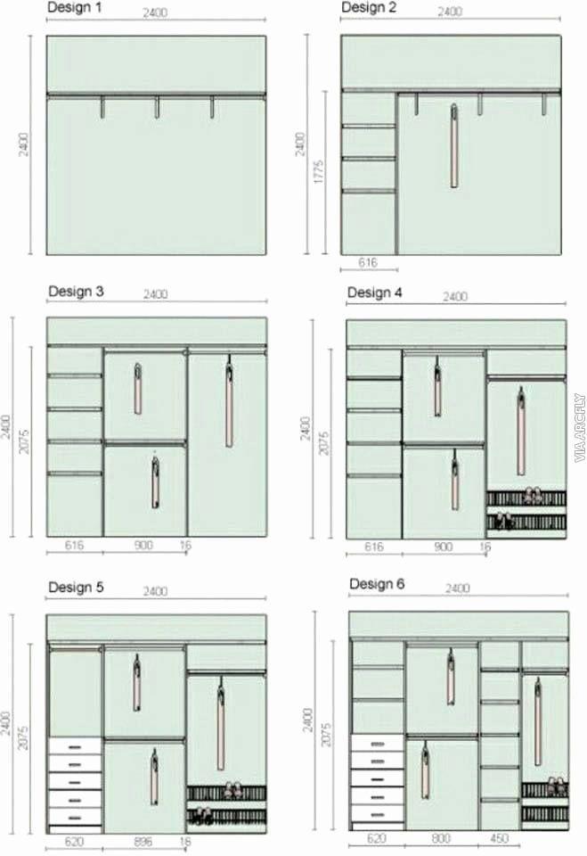 Standard Bedroom Closet Dimensions Unique Wardrobe Closet Design Guidelines Ru Standard Bedroom Clos In 2020 Closet Bedroom Closet Remodel Closet Small Bedroom