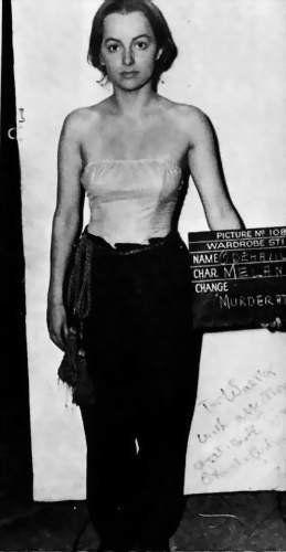 It's Olivia de Havilland during wardrobe test for GWTW