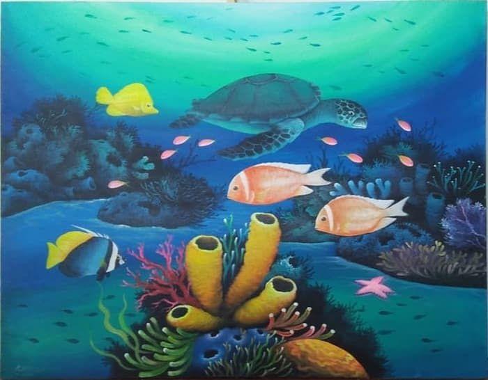20 Lukisan Pemandangan Ikan Pemandangan Dasar Laut Lukisan Cikimm Com Download Harga Spesifikasi Fikri Art Ikan Koi Kanvas Lukisan D In 2020 Painting Art Fish Pet