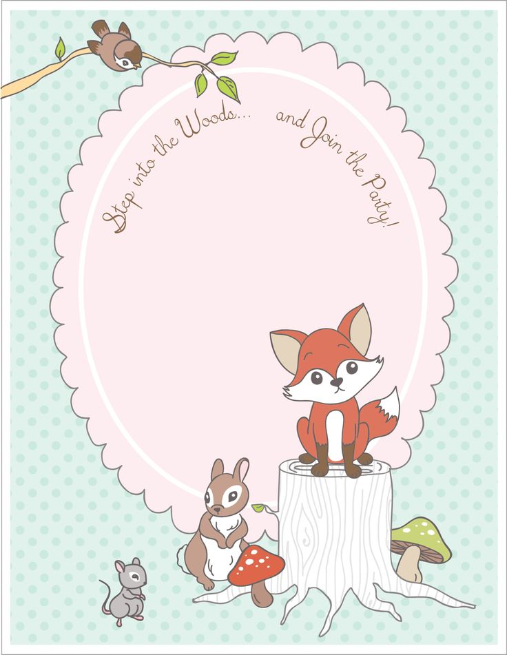 FREE printable woodland animal place cards + party invitation   from AmyJ Raising up Rubies: