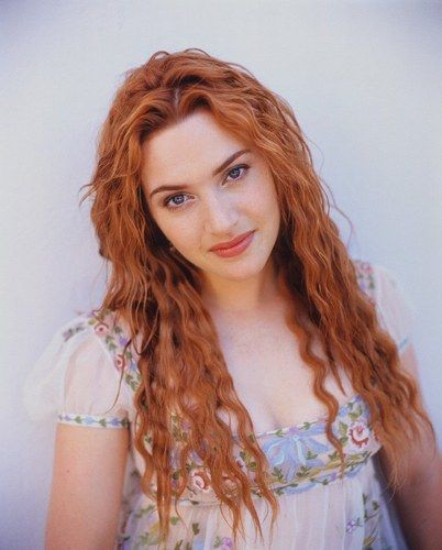 Kate Winslet-goodness I love her and her hair this color. Oh good ol titanic days.