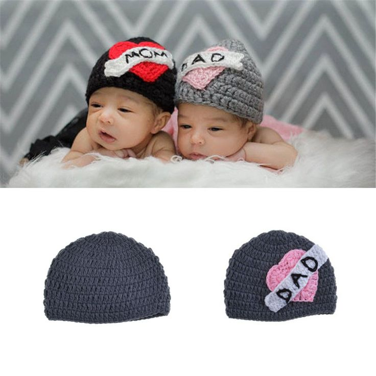 >> Click to Buy << LOVE MOM LOVE DAD Crochet Twins Hat  Crochet Knitted Infant Baby Unisex Winter Hat Caps Kids Headwear Photo Props MZS-15052 #Affiliate