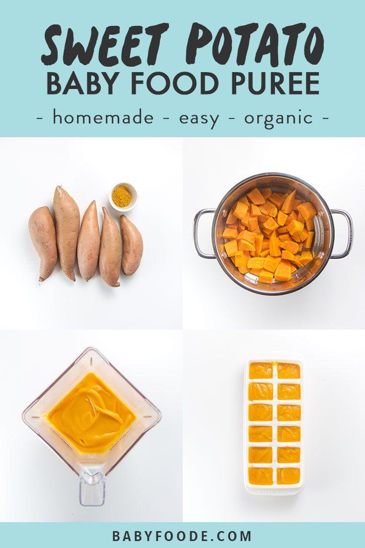 7 Bio – Babynahrungsrezepte für 20 US – Dollar   – Easy Homemade Baby Food Purees