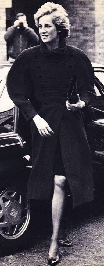 April 1987 - Diana arrives at Dr Barnardo's School in Hertford,