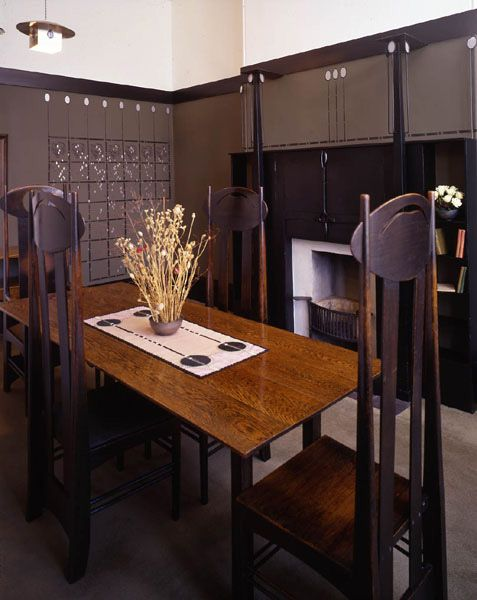 Charles Rennie Mackintosh house at the Hunterian Museum, Glasgow - been here too..also awesome...sad and sadder...NOT...true architect, designer, artisan, super hero.....