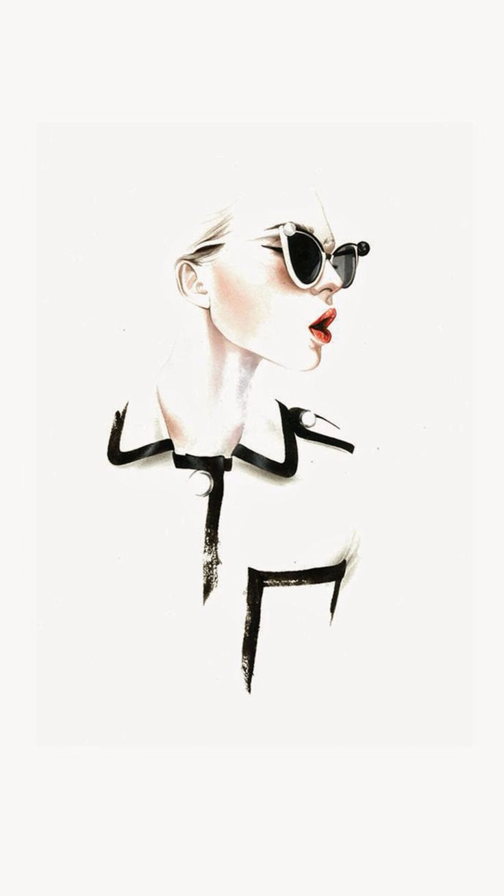 High Fashion Makeup Illustration