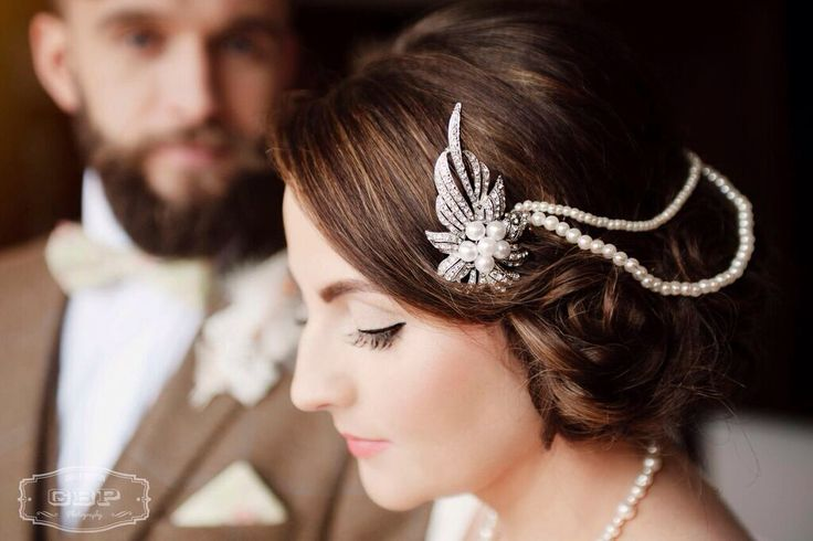 Bespoke handcrafted bridal hair piece from Lilly Dilly's #luxury #bespoke #accessories #hair #vintage #bespoke #Lilly Dilly's #pearl #diamante #bridal #bride #wedding #couture