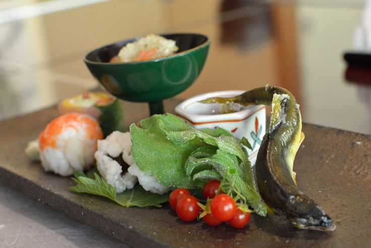 We had this decadent dish in Japan. Their attention to detail in their plating is impeccable!