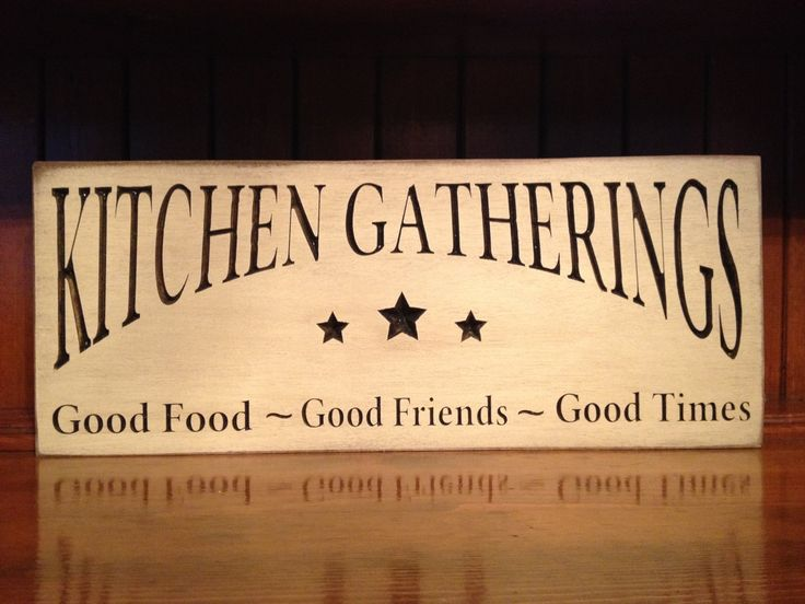 """Custom Carved Wooden Sign - """"Kitchen Gatherings ..."""" 6x24, 8x18, 10x24 by HayleesCloset on Etsy"""