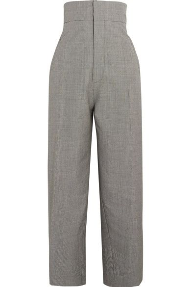 Jacquemus - Houndstooth Wool And Mohair-blend Tapered Pants - Black - FR