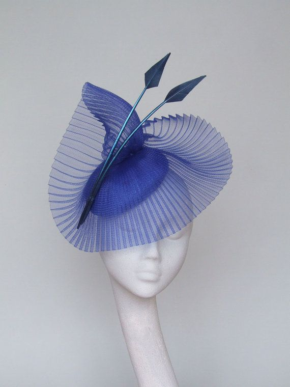 Royal Blue Fascinator Royal Ascot Hat by CoggMillinery on Etsy