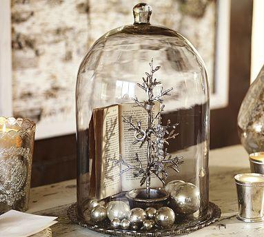 Alston Mercury Glass Tray & Cloche #potterybarn