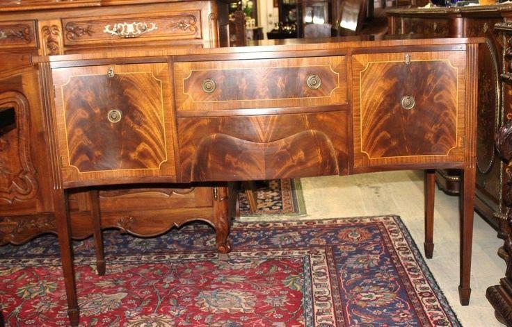 English Antique Edwardian Mahogany Sideboard / Buffet #Edwardian