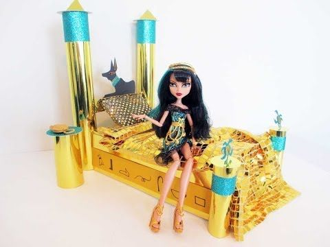 How To Make A Cleo De Nile Doll Bed Tutorial/ Monster High. Weu0027ve Already  Made My Daughter A Cleo Bedroom Set. However This May Come In Handy For You.