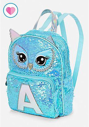 c5af0460e10b Owl Flip Sequin Initial Mini Backpack