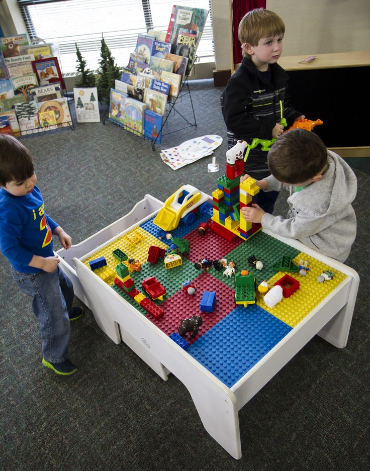 Blocks: Lego-everyone's favourite toy growing up. Children can let their imagination grow wild and build towers, towns, cars, people, the list could go on. These blue, red, green, yellow, white blocks teach basic math concepts, spatial relations and provide open-ended play to hone their fine motor skills.