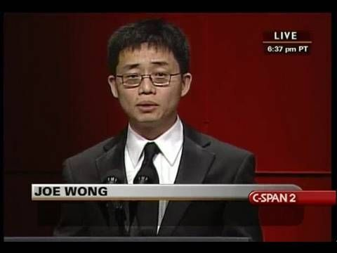 Joe Wong at RTCA Dinner. (To some of the audience there, I just wanna say, think about who you are before you give those looks!)
